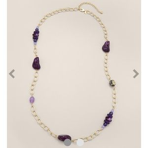 Chico's Single Strand Purple Necklace